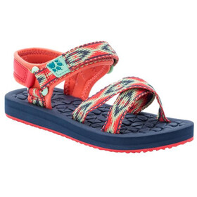 Jack Wolfskin Zulu Sandals Kids, red/blue